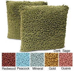 Magic Makeover Shag 2-piece Square Decorative Pillow Set - Thumbnail 0