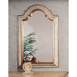 Silver and Gold Arched Top Mirror