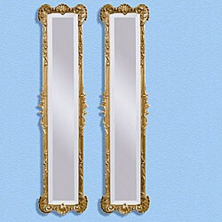Traditional Mirrors with Antique Gold Finish (Set of 2)