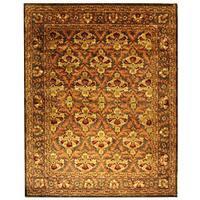 Safavieh Handmade Kerman Sage/ Gold Wool Rug - 9'6 x 13'6