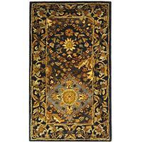 Safavieh Handmade Tabriz Blue Wool Runner (2'3 x 4')