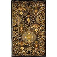 Safavieh Handmade Tabriz Blue Wool Rug (2' x 3')