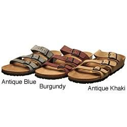 Birkenstock Women 's Sandals Orlando Blue Striped [BK 8784] $ 59.10: