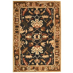 Safavieh Handmade Rodeo Drive Graphite/ Camel New Zealand Wool Rug (5' x 8') - Thumbnail 0