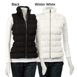 Thumbnail 1, MICHAEL Michael Kors Women's Ruched Slim-fit Down Vest.