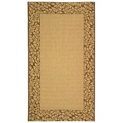 Safavieh Courtyard All-Weather Poolside Natural/ Brown Indoor/ Outdoor Rug (5'3 x 7'7)