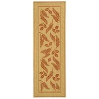 Safavieh Ferns Natural/ Terracotta Indoor/ Outdoor Runner Rug - 2'4 x 6'7