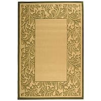 Safavieh Paradise Natural/ Olive Green Indoor/ Outdoor Rug (5'3 x 7'7)