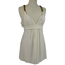 T-Bags Women's White Summer Dress - Thumbnail 0