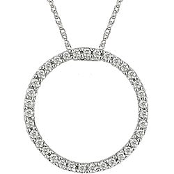 Miadora 10k Gold 1/8ct Diamond Circle of Life Necklace