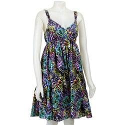 FINAL SALE Spense Women's Multicolor V-neck Dress - Thumbnail 0
