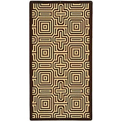 Safavieh Matrix Chocolate/ Natural Indoor/ Outdoor Rug (5'3 x 7'7)