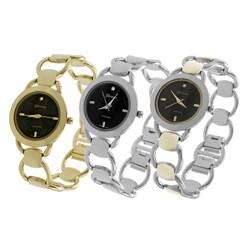 Geneva Platinum Women's Circular Link-style Watch