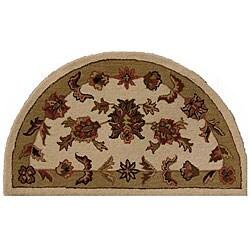 Shapes Sage Half-round Wool Rug (2'3 x 3'10)