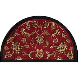 Shapes Red Half-round Rug (2'3 x 3'10)