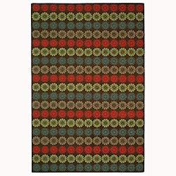 "Martha Stewart by Safavieh Solar Garden Mulberry Wool Rug - 5'6"" x 8'6"" - Thumbnail 0"
