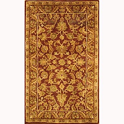 Safavieh Handmade Exquisite Wine/ Gold Wool Runner (2'3 x 4')