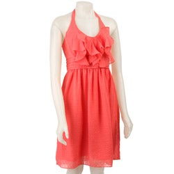 Max & Cleo Women's Ruffle Halter Dress - Thumbnail 0