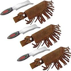 Razor Hunting Knives with Sheath (Case of 3) - Thumbnail 0