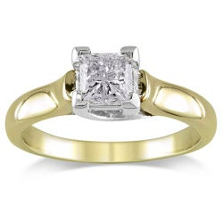 Miadora 14k Gold 1ct TDW IGL-certified Diamond Engagement Ring