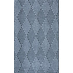 nuLOOM Handmade Neutrals and Textures Diamonds Slate Wool Rug - 5' x 8' - Thumbnail 0