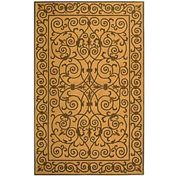 Safavieh Hand-hooked Iron Gate Yellow/ Light Green Wool Rug - 7'9 x 9'9 - Thumbnail 0