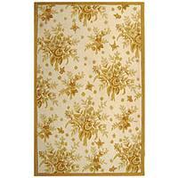 Safavieh Hand-hooked Flov Ivory/ Gold Wool Rug (8'9 x 11'9)