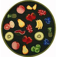Safavieh Hand-hooked Fruits Hunter Green Wool Rug - 4' Round