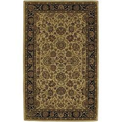 Hand-tufted Beige New Zealand Wool Area Rug - 5' x 8' - Thumbnail 0