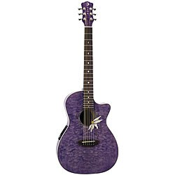 Luna Flora Passionflower Tranz Purple/ Quilted Maple Guitar