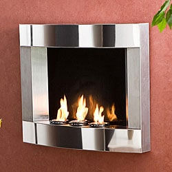 Thumbnail 1, Stainless Steel Wall Mount Fireplace.