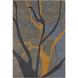 Hand-tufted Mandara Grey New Zealand Wool Rug (5' x. Opens flyout.