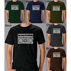 Los Angeles Pop Art Men's Boom Box Shirt (Option: Military - 3X)