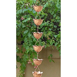 Lotus Copper Rain Chain