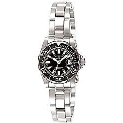 Invicta Women's 7059 Signature Stainless Steel Black Dial Watch|https://ak1.ostkcdn.com/images/products/P12067687.jpg?impolicy=medium