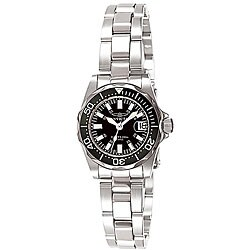 Invicta Women's 7059 Signature Stainless Steel Black Dial Watch