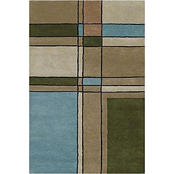 Artist's Loom Hand-tufted Contemporary Geometric Wool Rug (7'9 Round) - 7'9 - Thumbnail 0