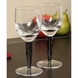 Denby Jet White Wine Glasses (Set of 2)