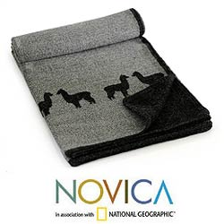 'Alpaca Eclipse' Alpaca Wool Throw Blanket (Peru)