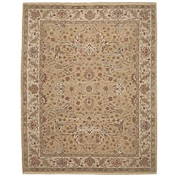 Nourison Hand-knotted Ancestry Light Gold Wool Rug (3'9 x 5'9)