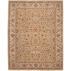 Nourison Hand-knotted Ancestry Light Gold Wool Rug (7'9 x 9'9)