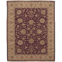 Nourison Hand-knotted Ancestry Wine Wool Rug (7'9 x 9'9)