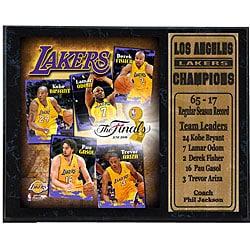 2009 Lakers Finals 12x15 Stat Plaque - Thumbnail 0