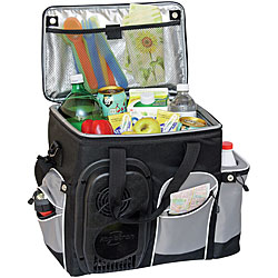 Koolatron 26-quart Soft-sided Cooler Bag (Black/Grey)