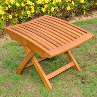 International Caravan Royal Tahiti Yellow Balau Wood Folding Footrest