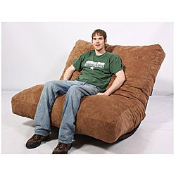 FufSack Brown Microfiber Futon Pillow Lounge Chair Free