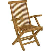 Solid Teak Classic Folding Armchair (Set of 2)