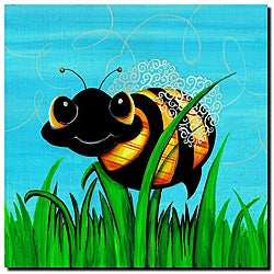 Sylvia Masek 'Bee at Play' Gallery-wrapped Canvas Art