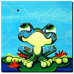 Sylvia Masek 'Frog's Lunch' Gallery-wrapped Canvas Art