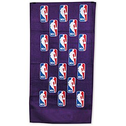 Shop NBA Logoman Scatterprint Purple Bench Towels (Set Of